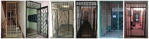 �зготовление и установка решетчатых дверей